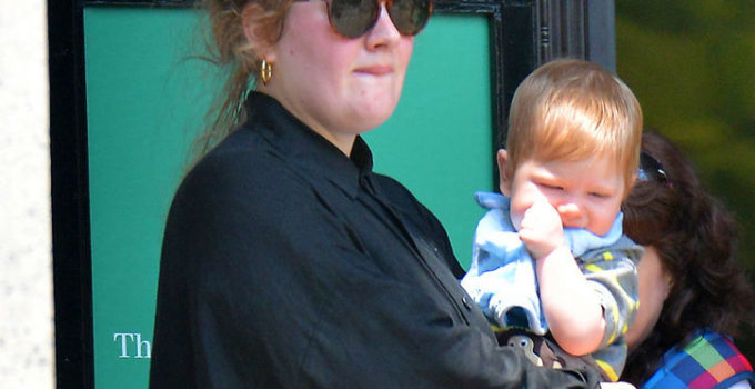 Adele and Son Angelo James Konecki